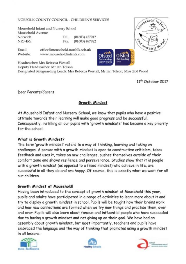 thumbnail of Growth Mindset Letter
