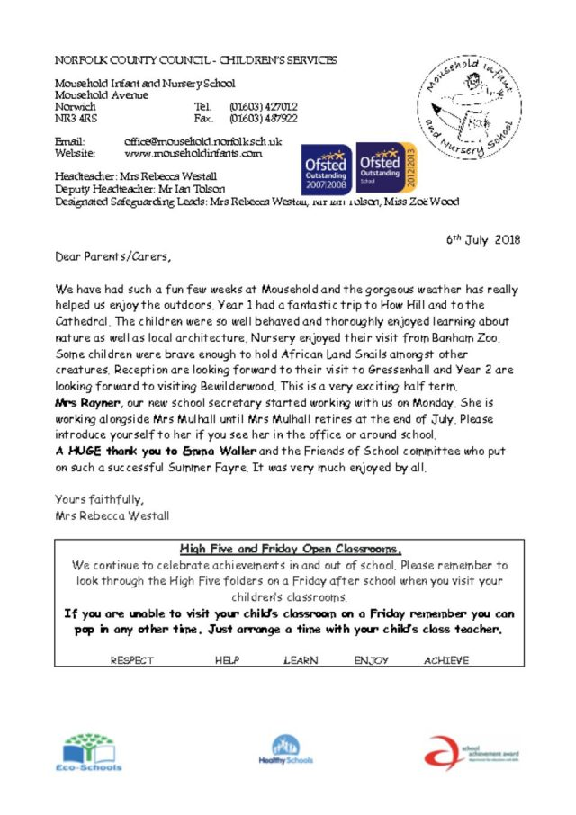thumbnail of Newsletter 6th July 2018
